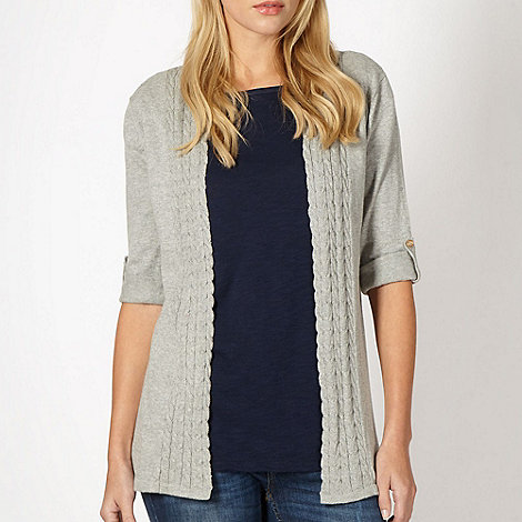Mantaray - Grey edge to edge cardigan