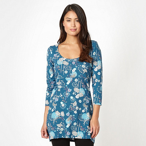 Mantaray - Turquoise floral jersey tunic