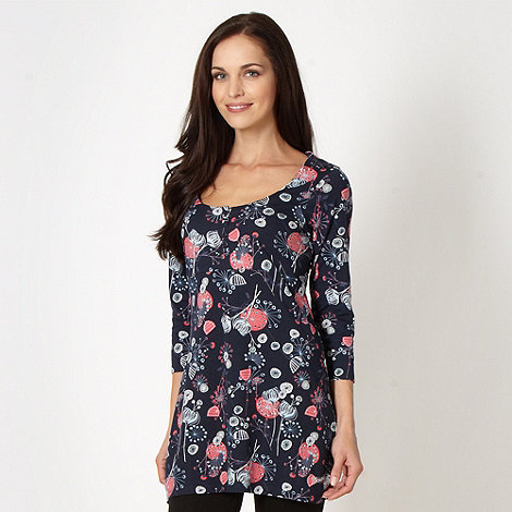 Mantaray - Navy floral jersey tunic