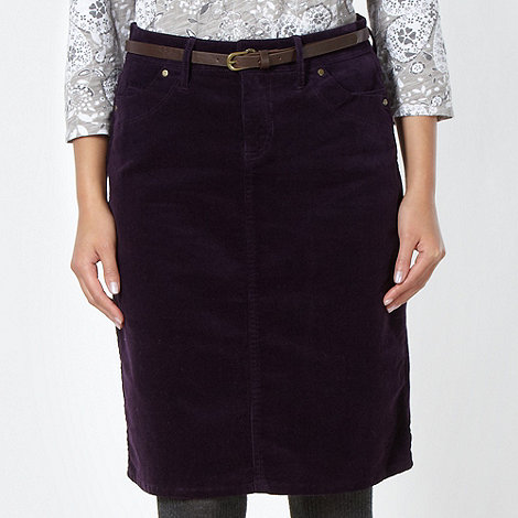 Mantaray - Dark purple cord skirt