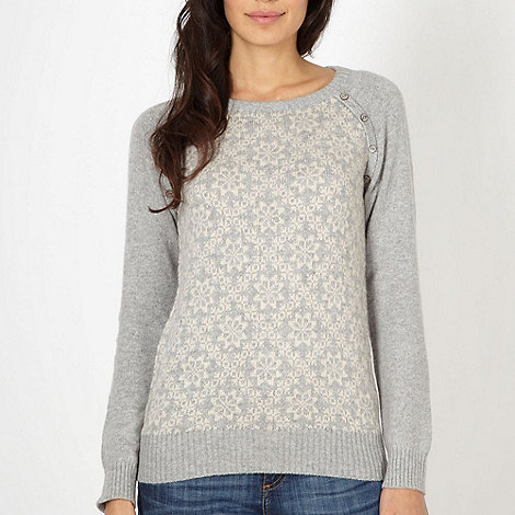 Mantaray - Grey snowflake knit jumper