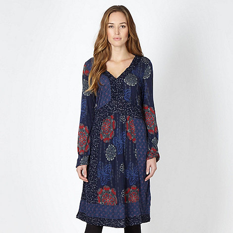 Mantaray - Navy patterned dress