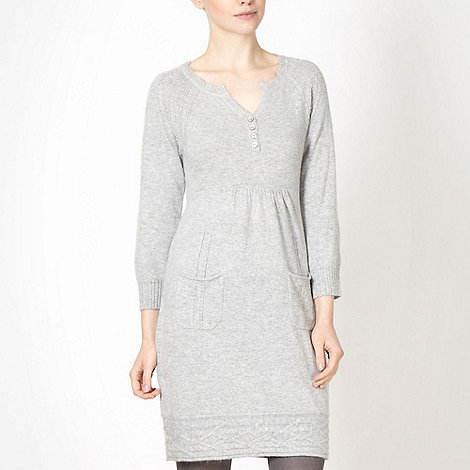 Mantaray - Grey drop pocket knitted dress