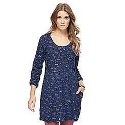 Mantaray - Navy swan print tunic