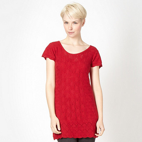 Mantaray - Red mixed knit tunic