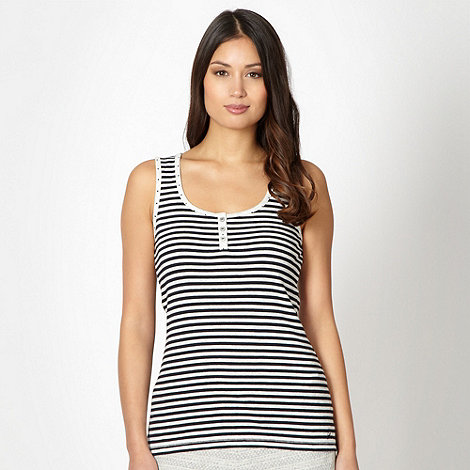 Mantaray - Navy striped loungewear vest