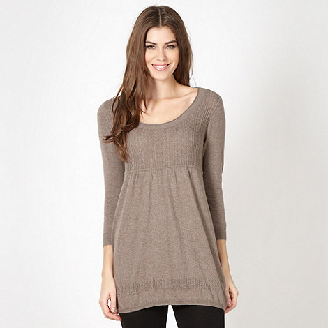 Mantaray - Taupe knitted tunic