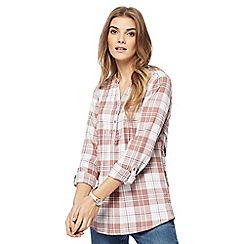 Mantaray - Mid rose checked shirt
