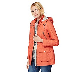 Mantaray - Orange shower proof hooded jacket