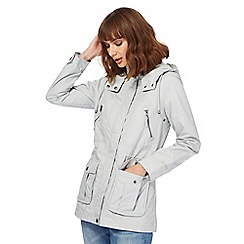 Mantaray - Grey shower proof hooded jacket