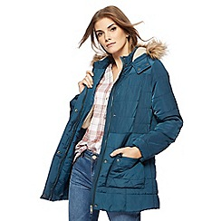 Mantaray - Dark turquoise quilted jacket