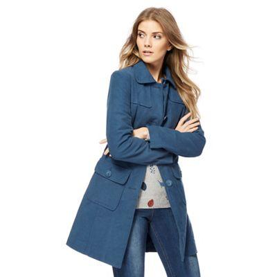 Mantaray Blue Moleskin Longline Coat Debenhams