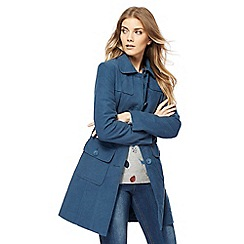 Mantaray - Blue moleskin longline coat