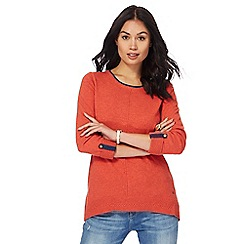 Mantaray - Orange curved hem jumper