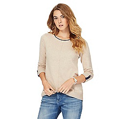 Mantaray - Beige longline jumper