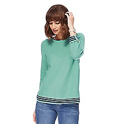 Mantaray - Green textured bow back jumper