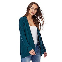 Mantaray - Dark green longline cardigan