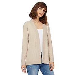 Mantaray - Natural edge to edge cardigan