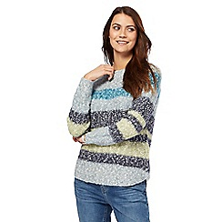 Mantaray - Multi-coloured yarn striped jumper