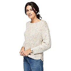 Mantaray - Natural chunky knit jumper