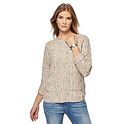 Mantaray - Cream fleck cable knit pocket jumper