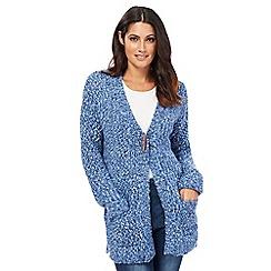 Mantaray - Blue textured boucle cardigan