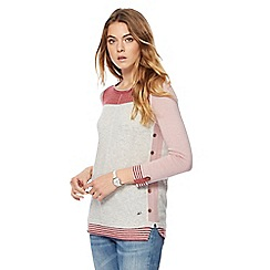Mantaray - Light pink colour block jumper