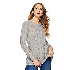 Mantaray - Grey cable knit jumper