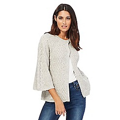 Mantaray - Grey cable knit swing cardigan