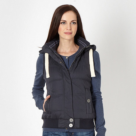 Mantaray - Navy padded diamond stitched gilet