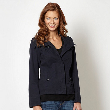 Mantaray - Navy button stitch cropped jacket