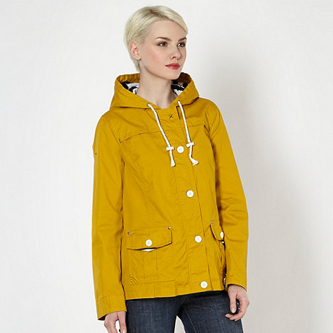 Mantaray - Dark yellow striped lined cagoule