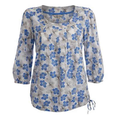 Royal blue butterfly blouse