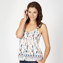 Mantaray - White floral printed cami