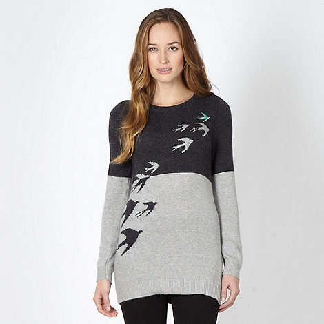 Mantaray - Grey patterned knitted tunic