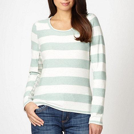 Mantaray - Pale green mixed stripe jumper