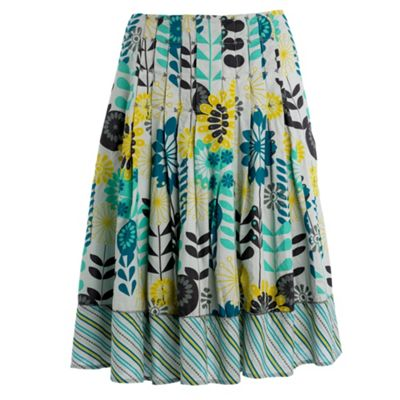 Mantaray Aqua cartwheel print skirt product image