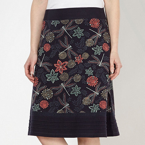 Mantaray - Navy dragonfly jersey skirt
