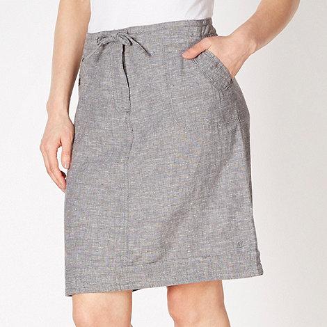 Mantaray - Dark grey crosshatch skirt