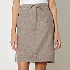 Mantaray - Taupe crosshatch skirt