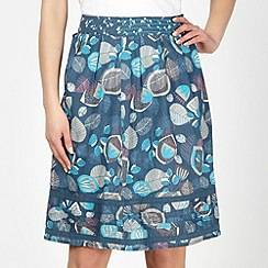Mantaray - Turquoise printed woven skirt