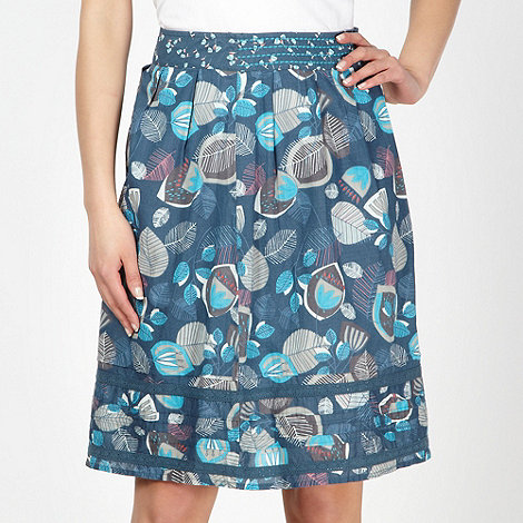 Mantaray - Turquoise printed woven skirt