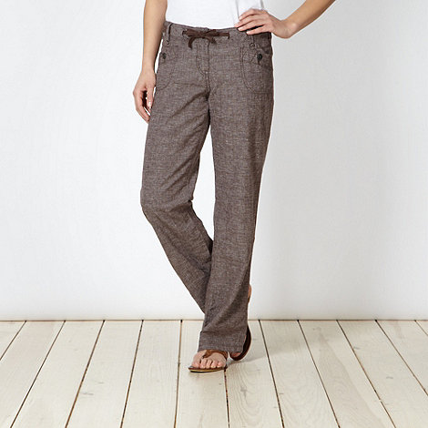 Mantaray - Brown crosshatch trousers