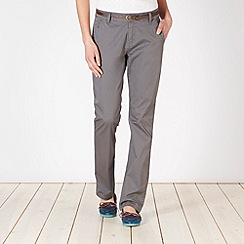 Mantaray - Grey belted chino trousers