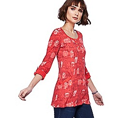 Mantaray - Red house print tunic