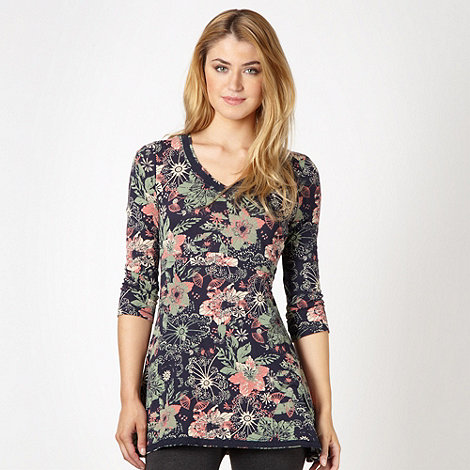 Mantaray - Navy floral lace tunic