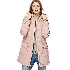 Mantaray - Pink faux fur lined parka