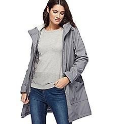 Mantaray - Grey rubberised hooded coat