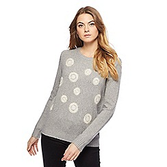 Mantaray - Grey floral embroidered jumper
