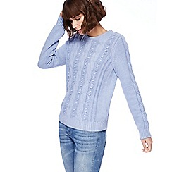 Mantaray - Light blue textured jumper